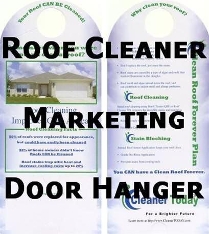 Roof Cleaning Marketing materials - Door Hanger