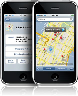 Smartphone map app