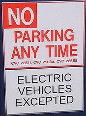 No Parking EV Excepted