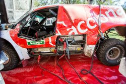 The Acciona racecar was the only EV  in the Dakar Rally