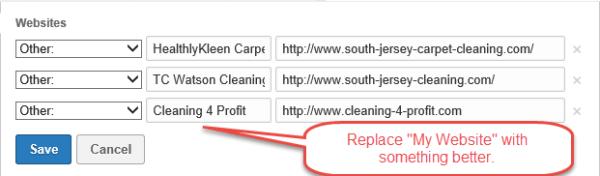 LinkedIn tip for website section
