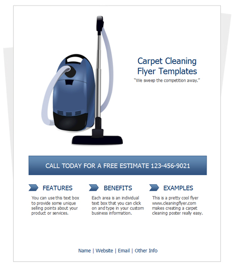 Carpet cleaning Flyer Template by CleaningFlyer - cleaning brochure template