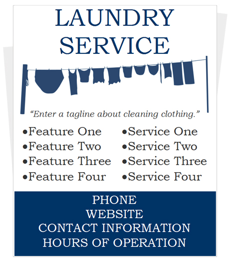Laundy Flyer Template for Microsoft Word by CleaningFlyer - microsoft word template flyer