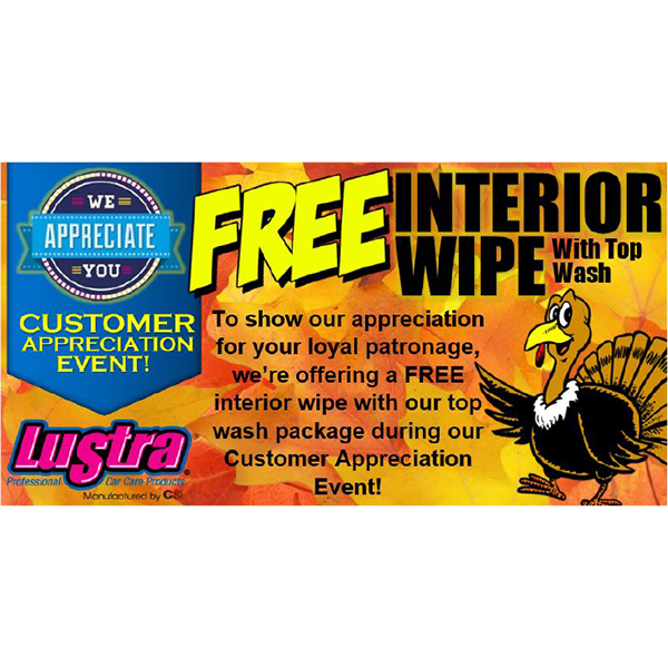 Customer Appreciation (November) - Flyer/Coupon - Cleaning Systems, Inc