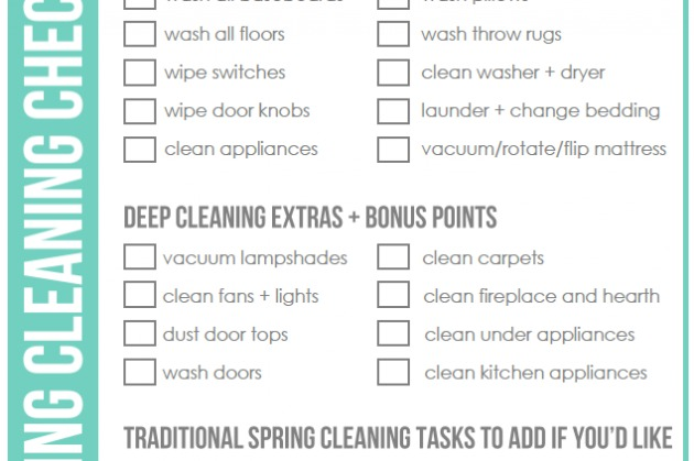 FREE Spring Cleaning Checklist - Clean Mama - spring cleaning checklist