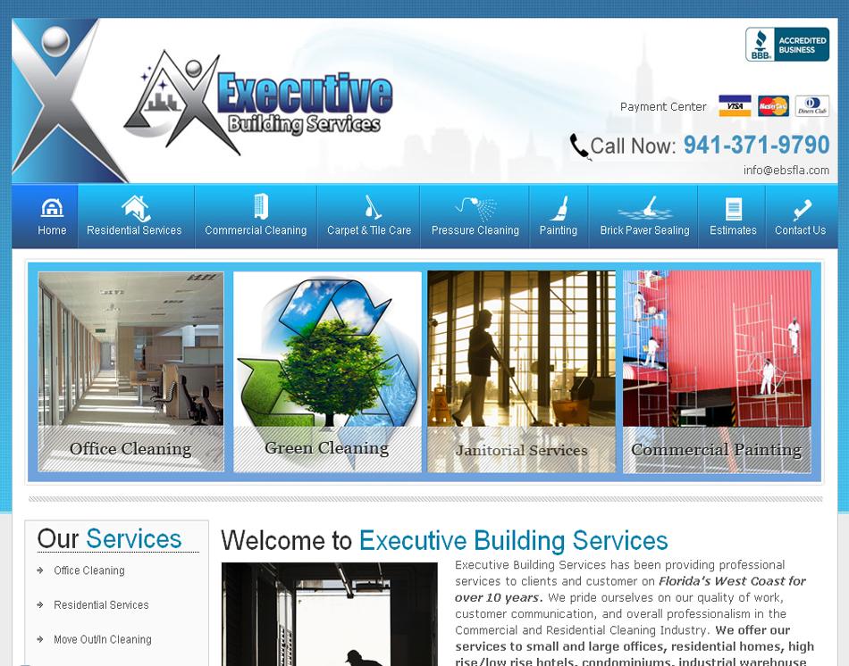 Professional Website Designer Cleaning Company Website Designing ...