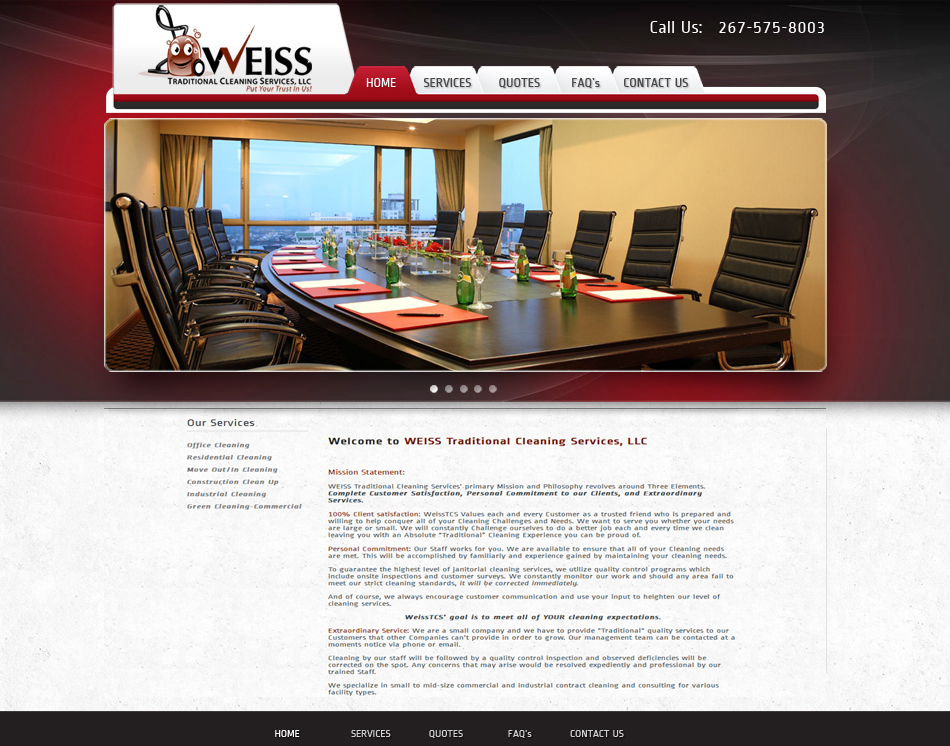 Cleaning Company Business Website Designing Prices Website Designers