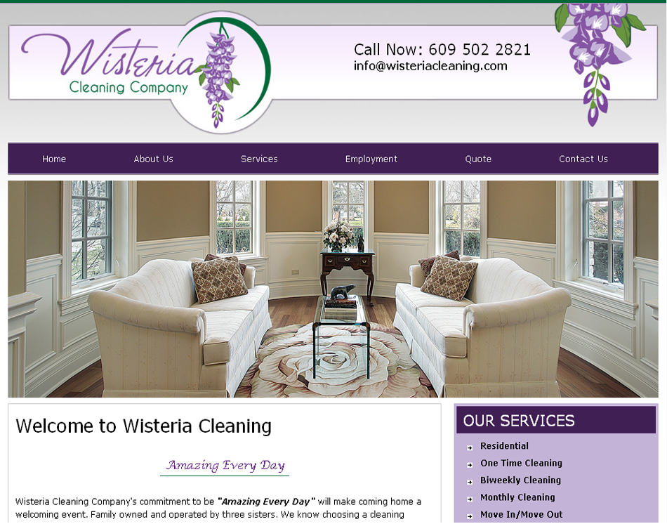 Website Designing Portfolio Cleaning Company Website Hosting Available