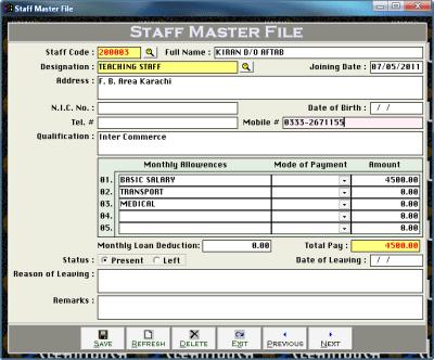 Cleantouch School Finance Controller 3.0