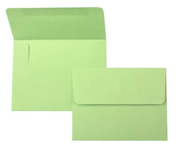 Buy Envelopes, Brights, Lee, A7 Size, Lime Green, 7 1/4 x 5 1/4
