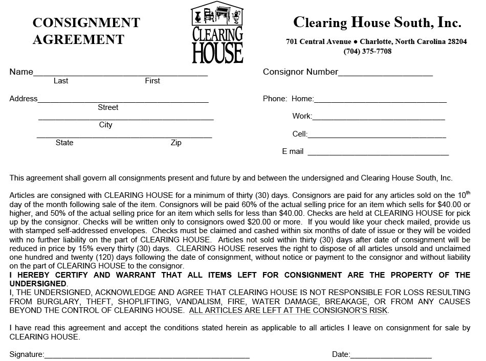 Free Printable Consignment Forms - Worksheet  Coloring Pages - consignment agreement template