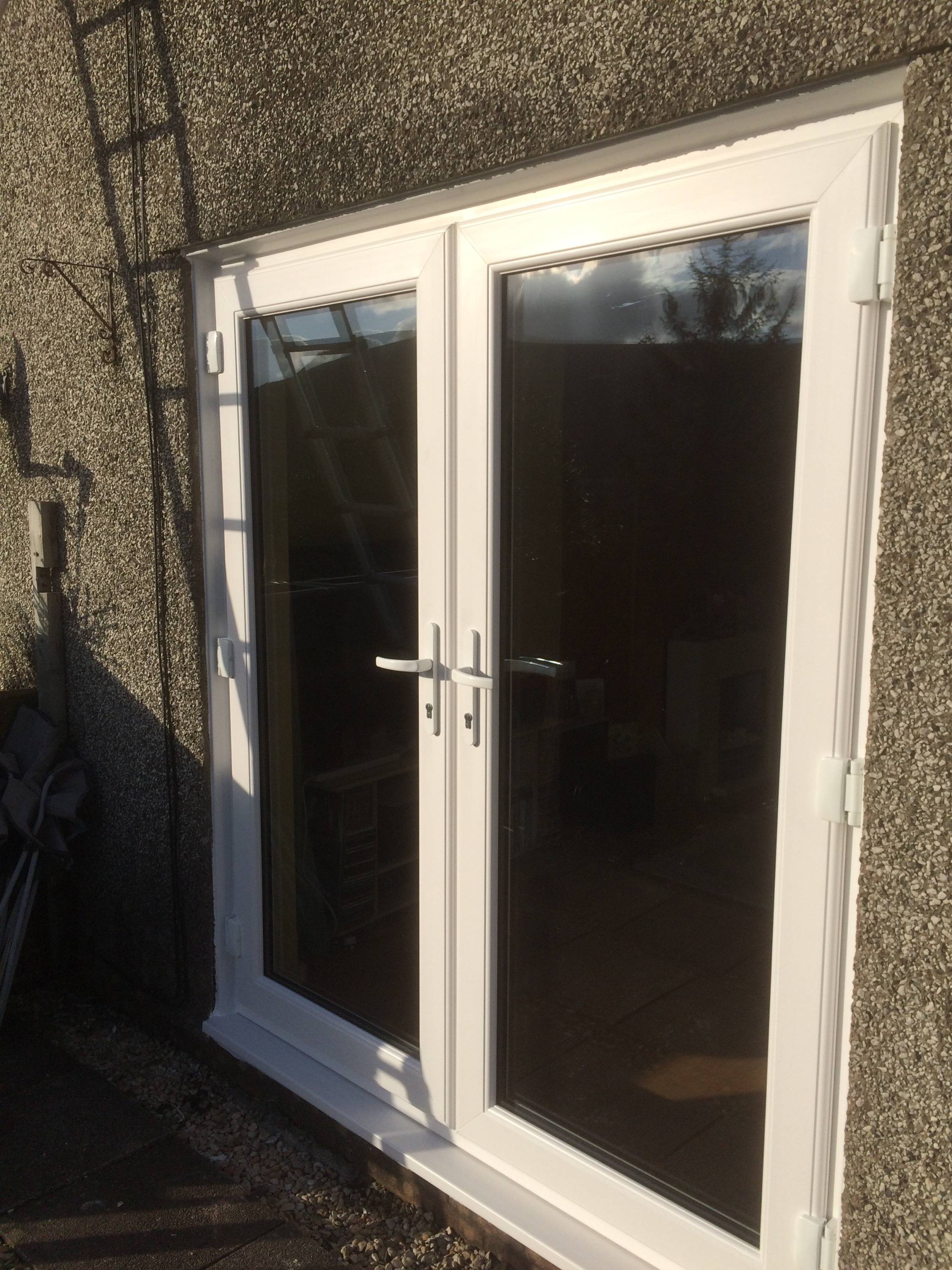 Upvc windows cardiff clearview windows cardiff part 4 for Installing upvc french doors
