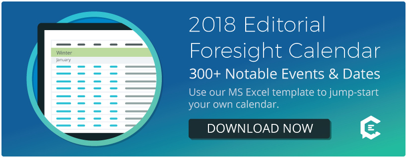 2018 Editorial Foresight Calendar Download Free Template - ClearVoice