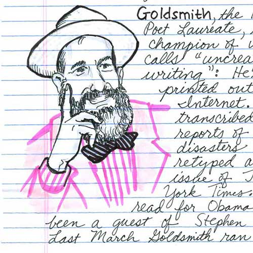 THE EMPATHY MACHINE: A Visual Narrative on the Poetics of Kenneth Goldsmith by Kelly McQuain
