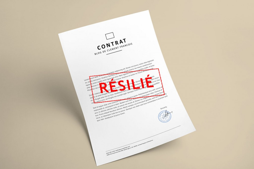 contrat resilie