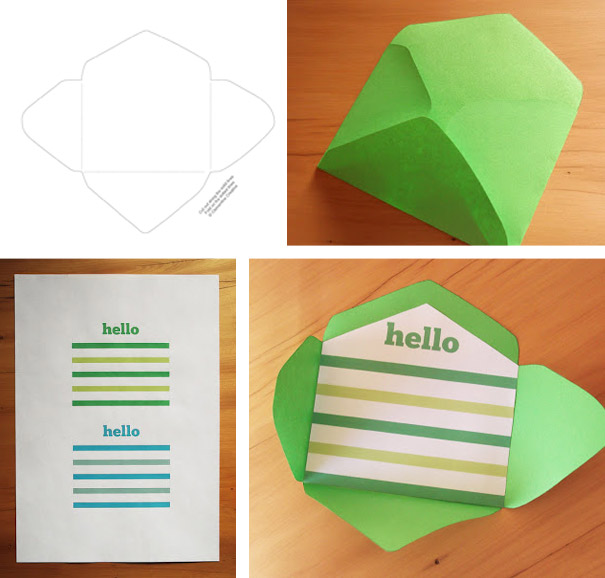 Free Printable Mini Envelope Templates and Liners - Small Envelope Template