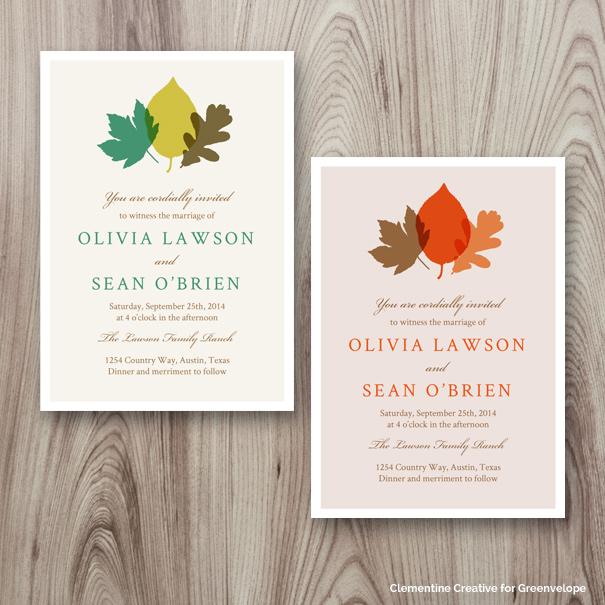New E-Invitation Designs - September 2014 - Clementine Creative