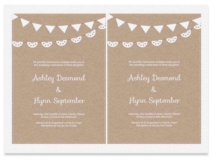 Free Printable Wedding Invitation Template - invite template free download