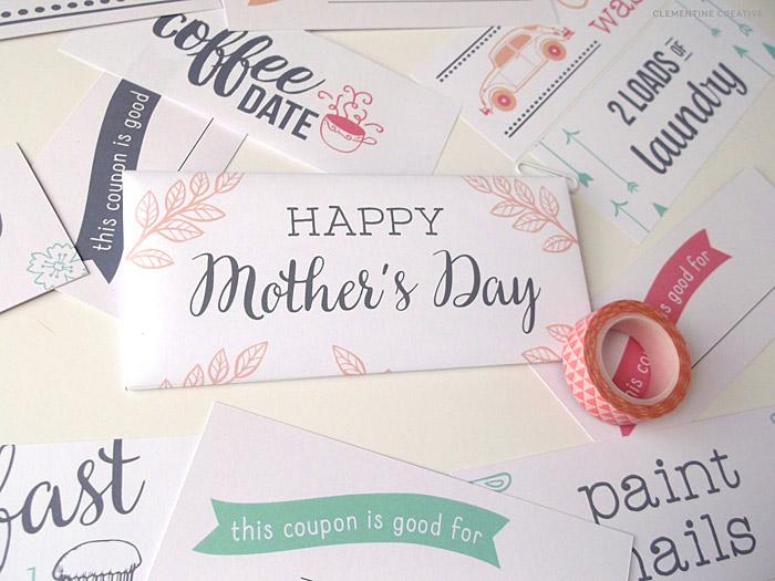 Free Printable Mother\u0027s Day Coupons to make Mom\u0027s day - diy printable coupons