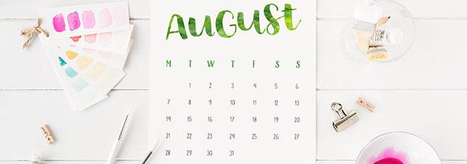 Free Printable {Hand Lettered} 2017 Calendar - Dress up your desk!