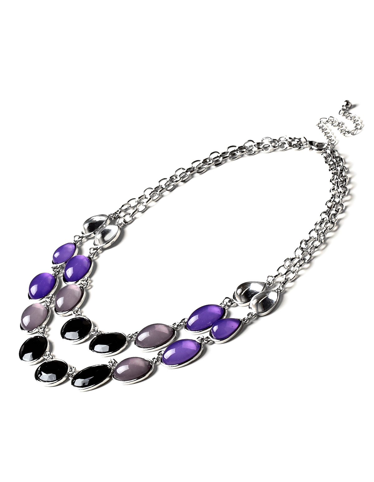 Purple Stone Layered Necklace Cleo