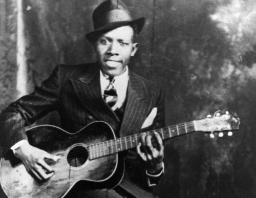 Blues guitarist and singer Robert Johnson in 1935 in Memphis, Tenn.