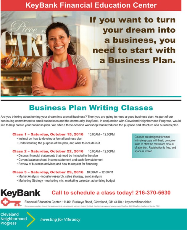 Business Plan Writing Classes - KeyBank Financial Education Center @ Financial Education Center | Cleveland | Ohio | United States