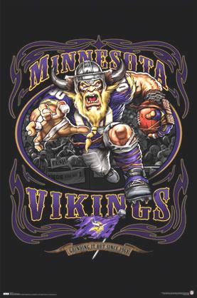 Chiefs Iphone Wallpaper Minnesota Vikings Nfl Team Logo Football Sports Poster