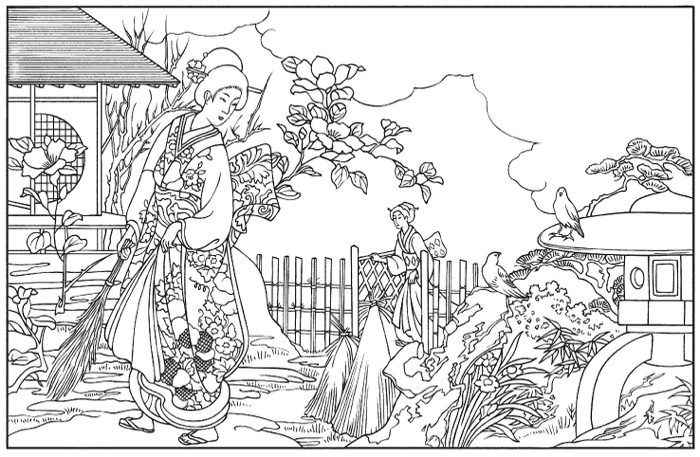 printable japanese coloring pages - photo#17