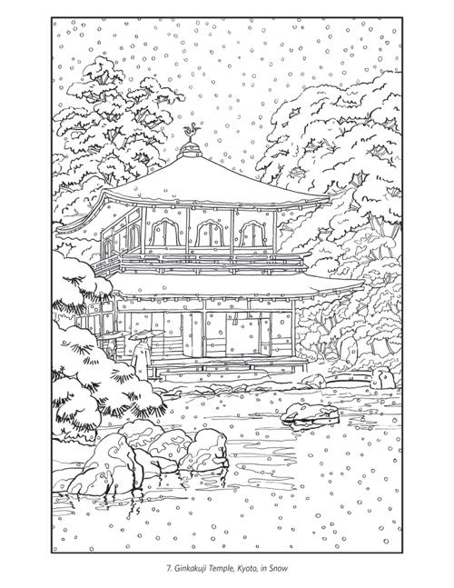 japanese castle coloring pages - photo#11