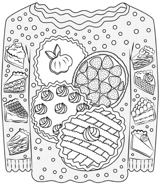 Ugly Sweater Coloring Page Template Coloring Pages