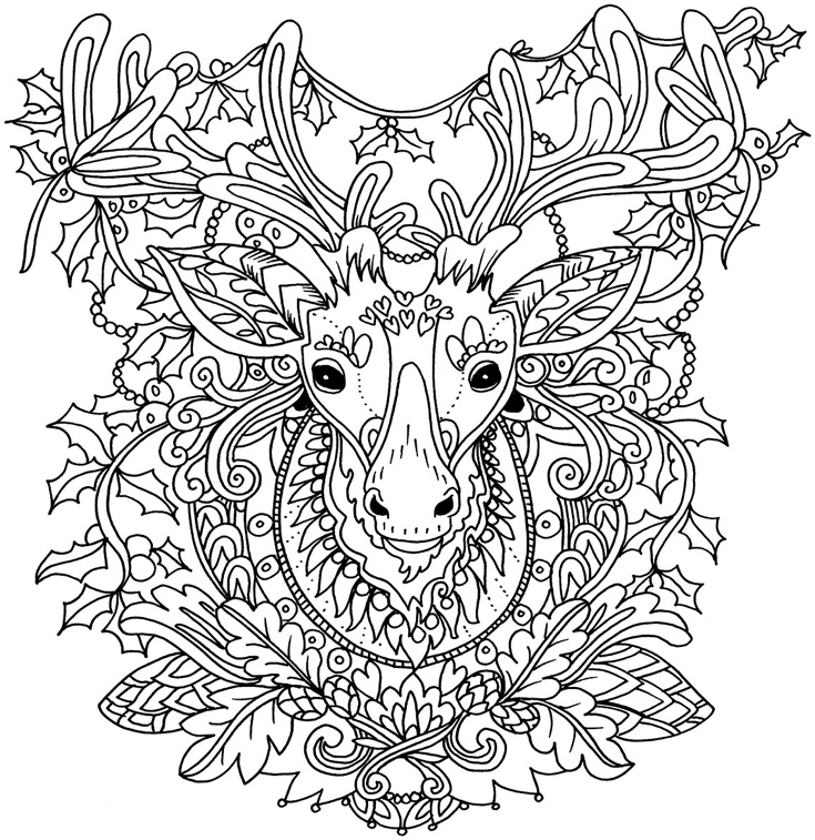 22 christmas coloring books to set the holiday mood for Holiday coloring pages for adults