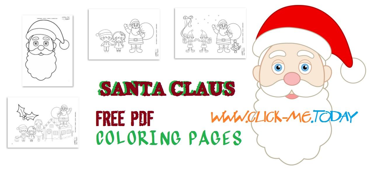 20 Free printable Santa Claus coloring pages PDF