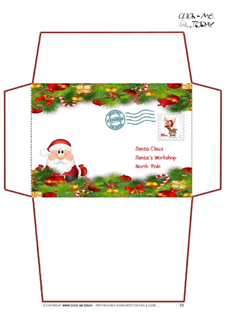 christmas envelope template - Acurlunamedia - Santa Envelopes