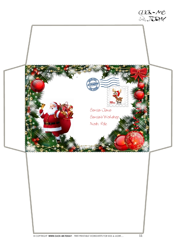 Craft envelope - Letter to Santa Claus -Christmas Decoration-11