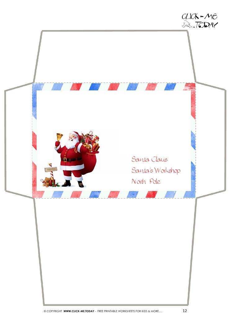 Craft envelope - Letter to Santa Claus -Border Santa-12