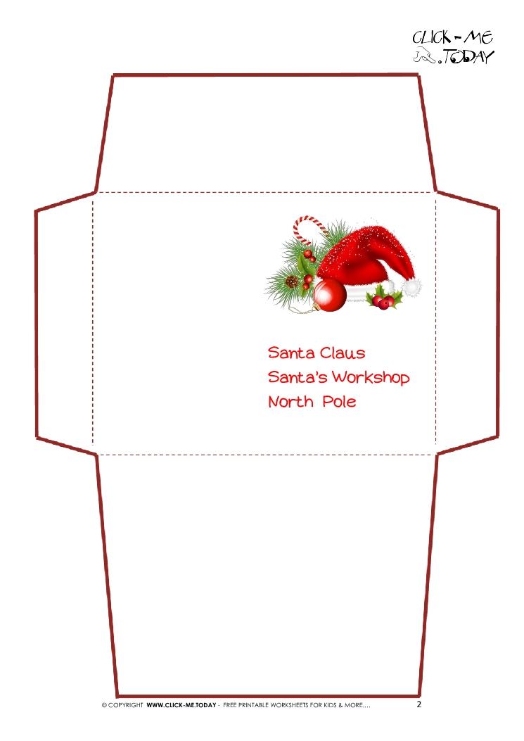 santa envelopes templates - Josemulinohouse - christmas letterhead templates word
