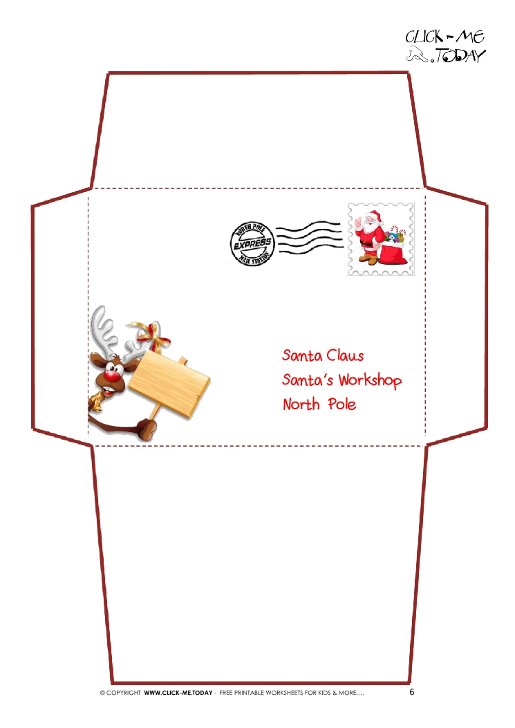 santa envelopes templates - Minimfagency - Santa Envelopes