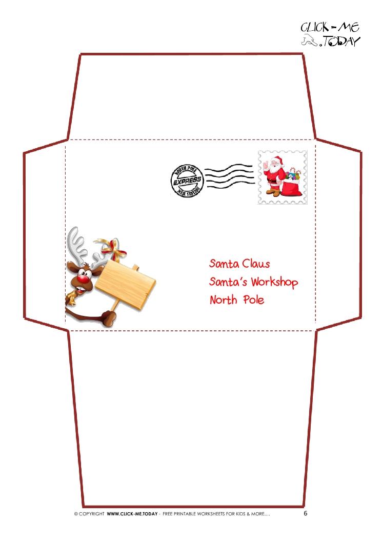 graphic regarding Free Printable Santa Envelopes known as 15 Most straightforward Printable Envelope Templates - Resume Illustrations