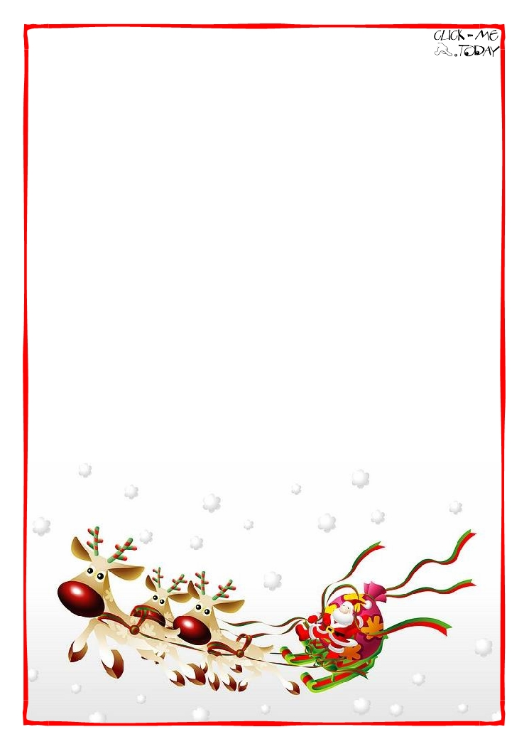 Christmas Paper Templates – Christmas Letter Templates