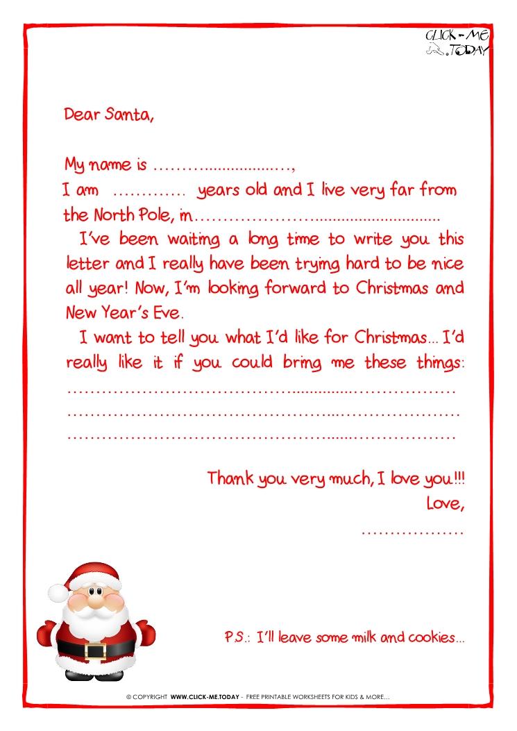 Santa template letter free santa letter template letter to santa letter spiritdancerdesigns Images
