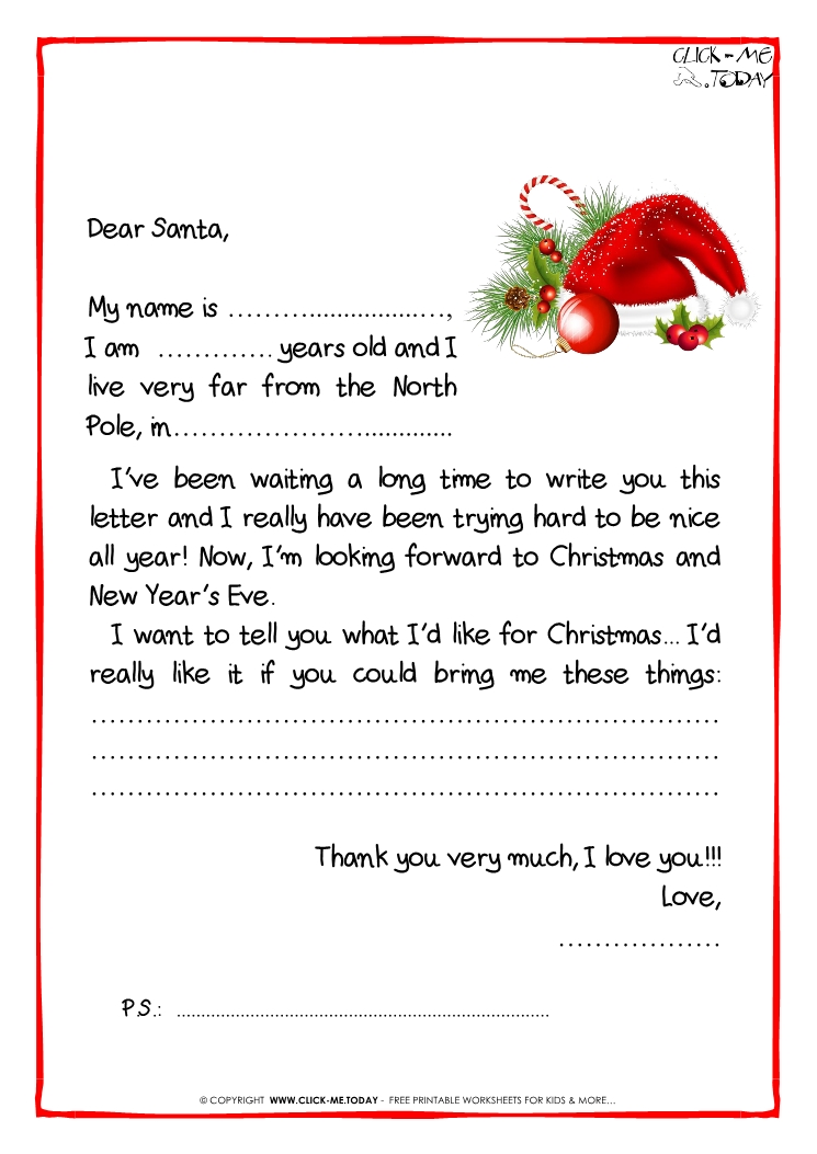 free christmas letter templates from santa new free christmas
