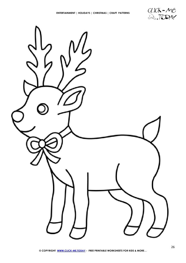 christmas craft templates printable - Pinarkubkireklamowe