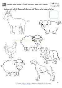 Farm Animals Worksheet - Activity Sheet 18