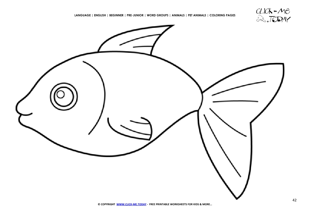 Coloring page Fish - Color picture of Fish