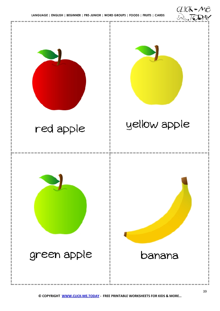 Free Printable Spanish Food Flashcards Look! Weu0027re Learning