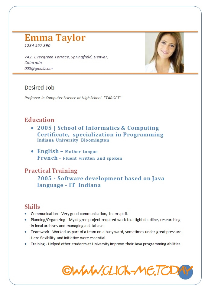 Resume Objective For Software Engineer Freshers sample resume