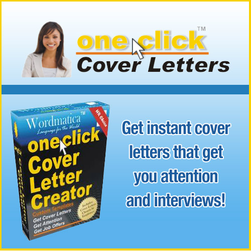 One Click Cover Letter Creator - ClickBank