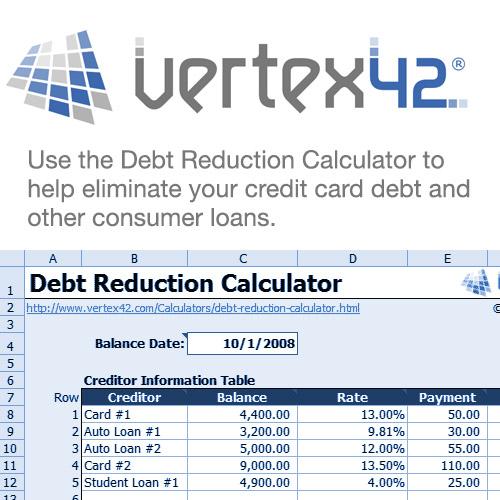 Debt Reduction Calculator - ClickBank - debt reduction calculator