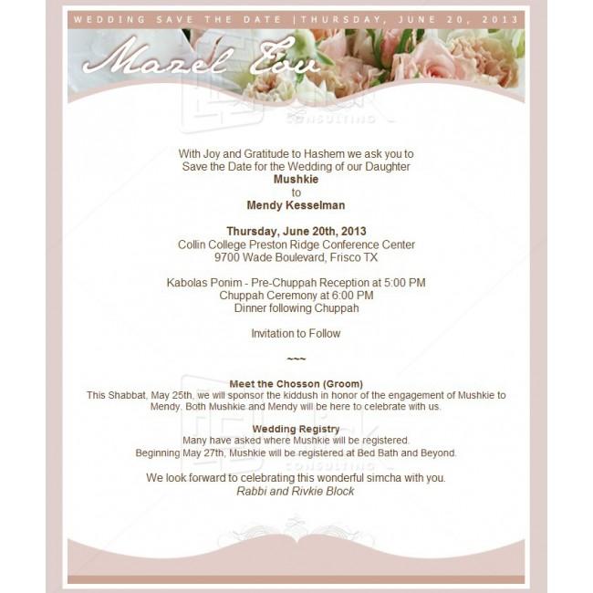 Wedding Invitation Email - Wedding Invitations - General Click